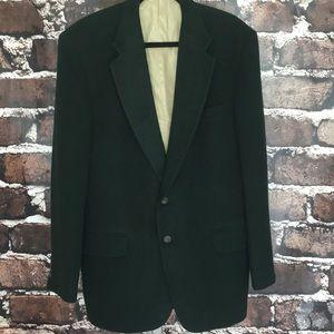 Stafford hunter green camel hair blazer jacket 43L